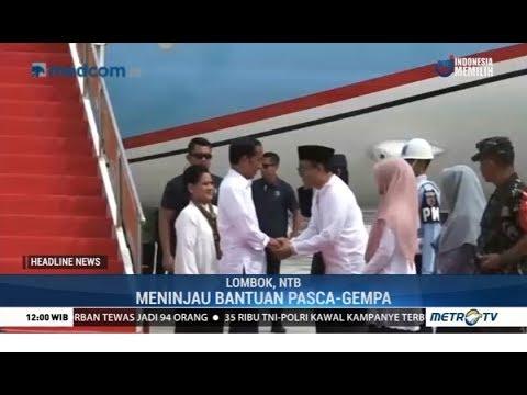 Jokowi Cek Langsung Hasil Rehabilitasi Korban Gempa Lombok