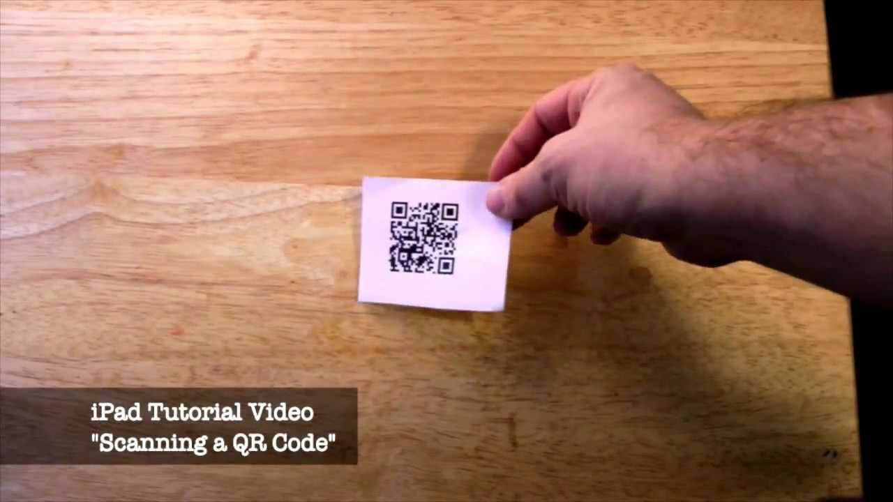 How To Scan A Qr Code With An Ipad