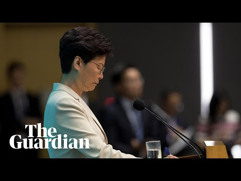 Hong Kong leader Carrie Lam offers apology after protests