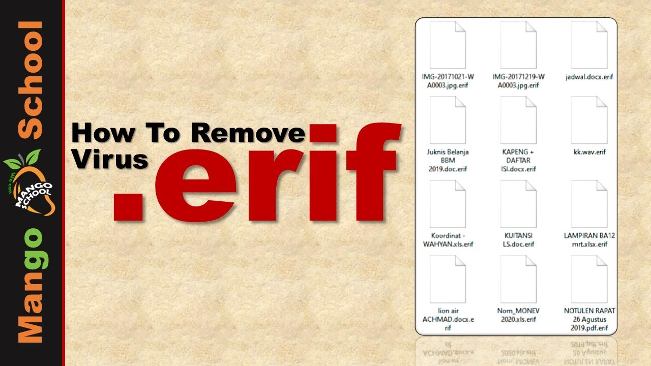 Download ERIF file virus ransomware [.erif] Removal and decrypt guide