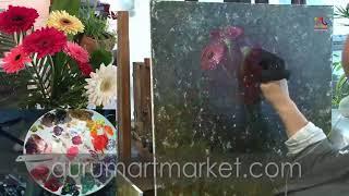 Видео урок живописи Елены Ильичевой Сложноцветные Герберы
