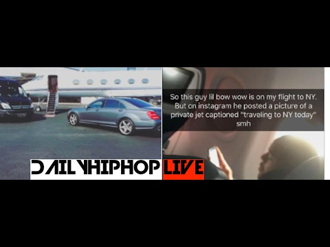 Bow Wow claims to be flying private jets but busted in coach | live