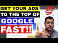 How To Get Your Ad On First Page Of Google (FAST) Adwords Top Of Page Bid