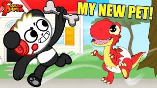 COMBO'S FIRST PET ! Combo Panda Learns to Care for a Baby Dinosaur Shelldon