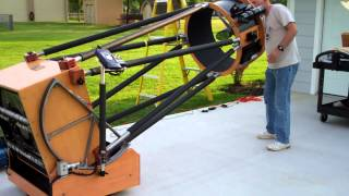 Preparing for Super Moon 2012 with 25-inch Dobsonian telescope and CCD camera