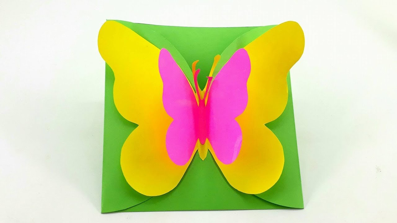 diy how to make greeting cards big butterfly birthday cards - Big Greeting Cards