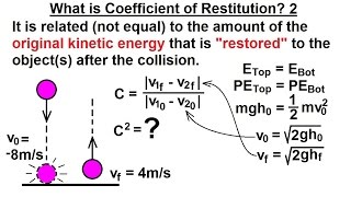 Physics: Mechanics- Momentum (2 of 9) What is Coefficient of Restitution? 2