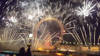 London 2017 New Year Fireworks LIVE 1440p