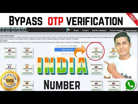 Finally I got a website for indian otp bypass or indian Virtual