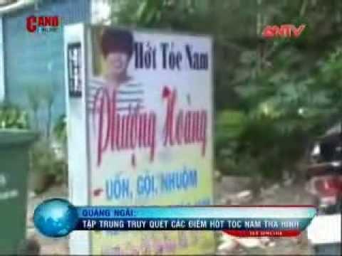 Truy quét các điểm hớt tóc nam trá hình ở Quảng Ngãi Ngày 24.10.2013