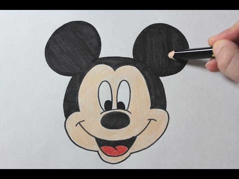 How to draw mickey mouse easy drawing tutorial