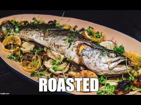 Weakfish Catch And Cook: Roasted, Tarragon Vinaigrette