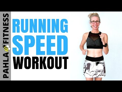 RUN FASTER | 40 Minute Indoor RUNNING SPEED Interval Workout | Let's RUN Podcast
