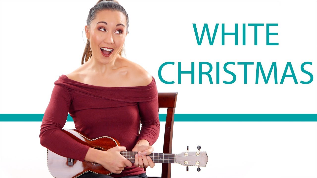 white christmas easy ukulele tutorial for beginners with play along