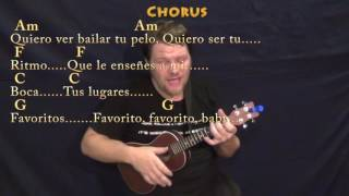 Despacito (Luis Fonsi/Justin Bieber) Ukulele Cover Lesson in Am with Chords/Lyrics