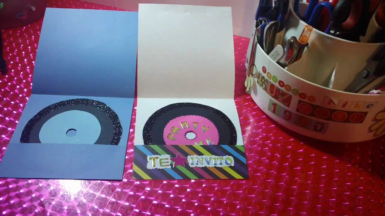 Invitacion Para Fiesta De Rock And Roll Disco