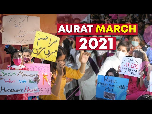 Everything That Went Down In Karachi's Aurat March 2021