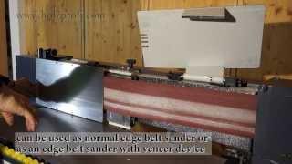 Sanding Wood With The Ksm3000 Edge Belt Sander By Holzprofi