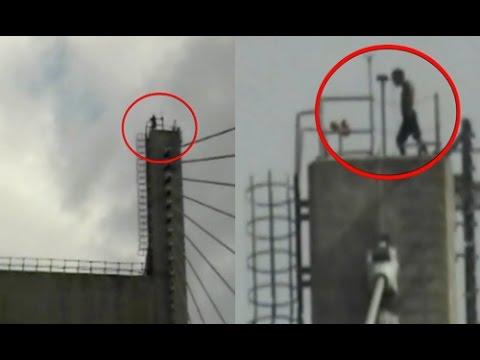 High Voltage Drama created by intoxicated man on Allahabad Yamuna Bridge