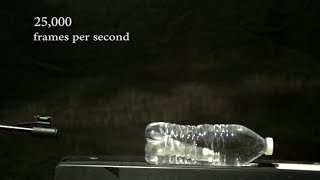 Pneumatic Rifle vs Water Bottles in Slow Motion | Slow Mo Lab