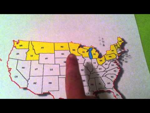 Learn the States Song for Kids- Northern Border of the United States