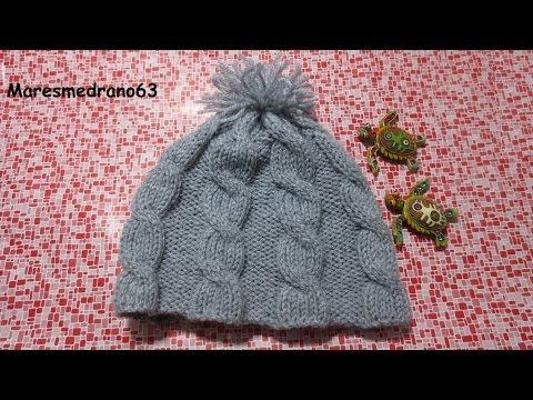 Aprende a tejer gorros de lana 1 2 - YouTube e0b3a7cbdf7