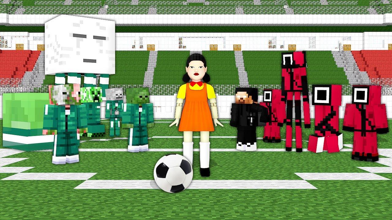 Monster School: Squid Game FootBall Challenge - Minecraft Animation