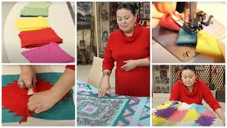 Лоскутное шитье. Куда применить обрезки тканей - детское одеяло в технике медвежья лапа.