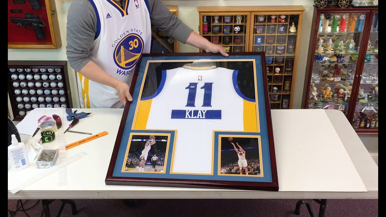How To Frame A Shirt >> How To Professionally Frame A Basketball Jersey In A Sports Display Case