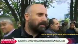 Halit Ergenc in Levent Kirsa funeral 13/10/2015 ...TRANSLATION bellow