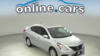 G12343TR Used 2018 Nissan Versa Silver Sedan Test Drive, Review, For Sale