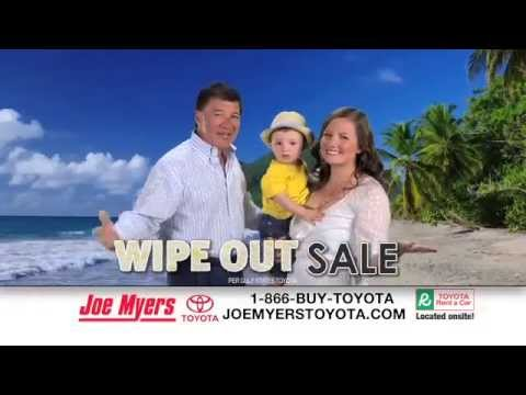 joe myers toyota wipe out sale - youtube
