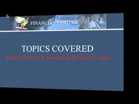 Equity Finance & Structured Products Courses 2011