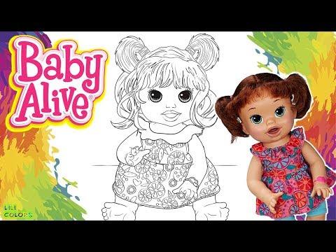 Colorir Boneca Baby Alive Sara Colorida Com Muita Diversão