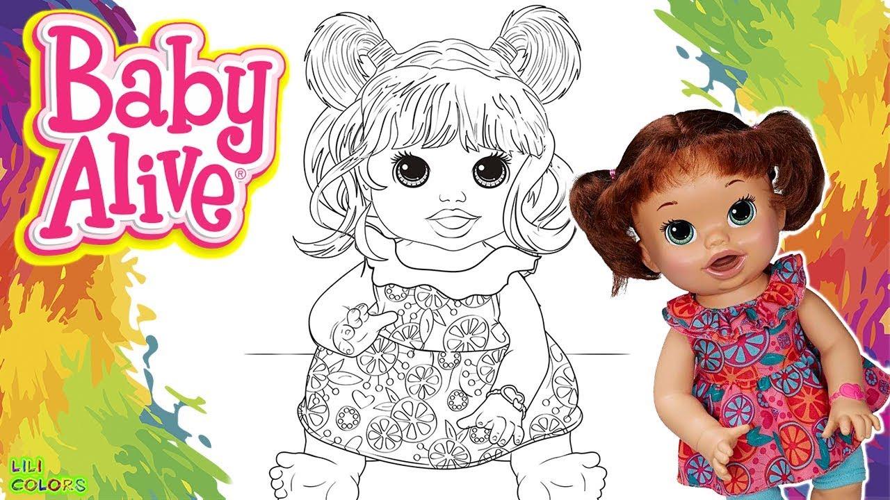 Colorir Boneca Baby Alive Sara Colorida Com Muita Diversao Desenho