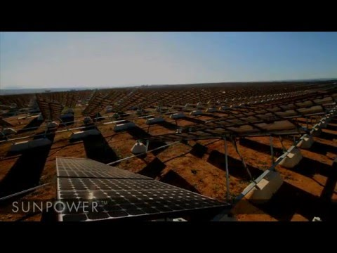 Olivenza Solar Power Plant - SunPower Solar Tracker Time-Lapse Installation Video