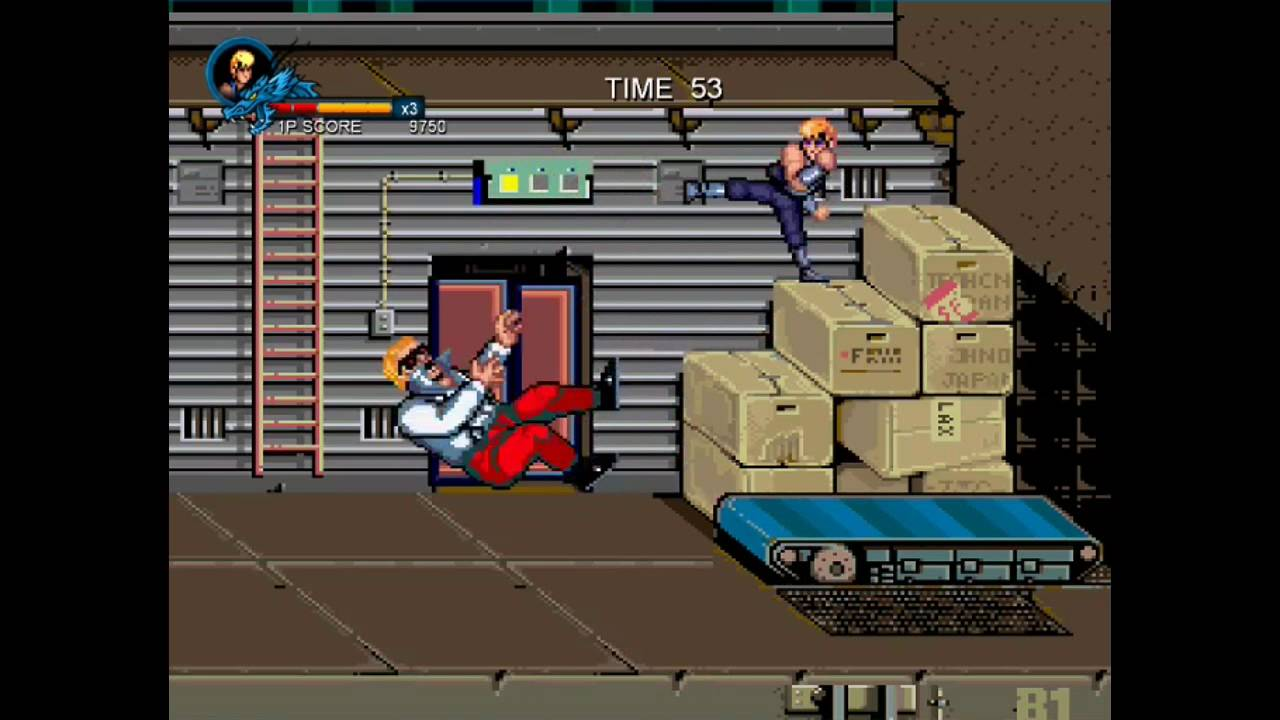 Easy Way To Beat Boss In Stage 2 Double Dragon 2 Arcade Youtube