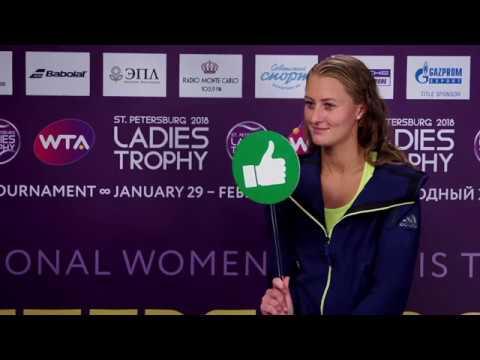 Kristina Mladenovic WTA St.Petersburg Ladies Trophy 01.02.2018