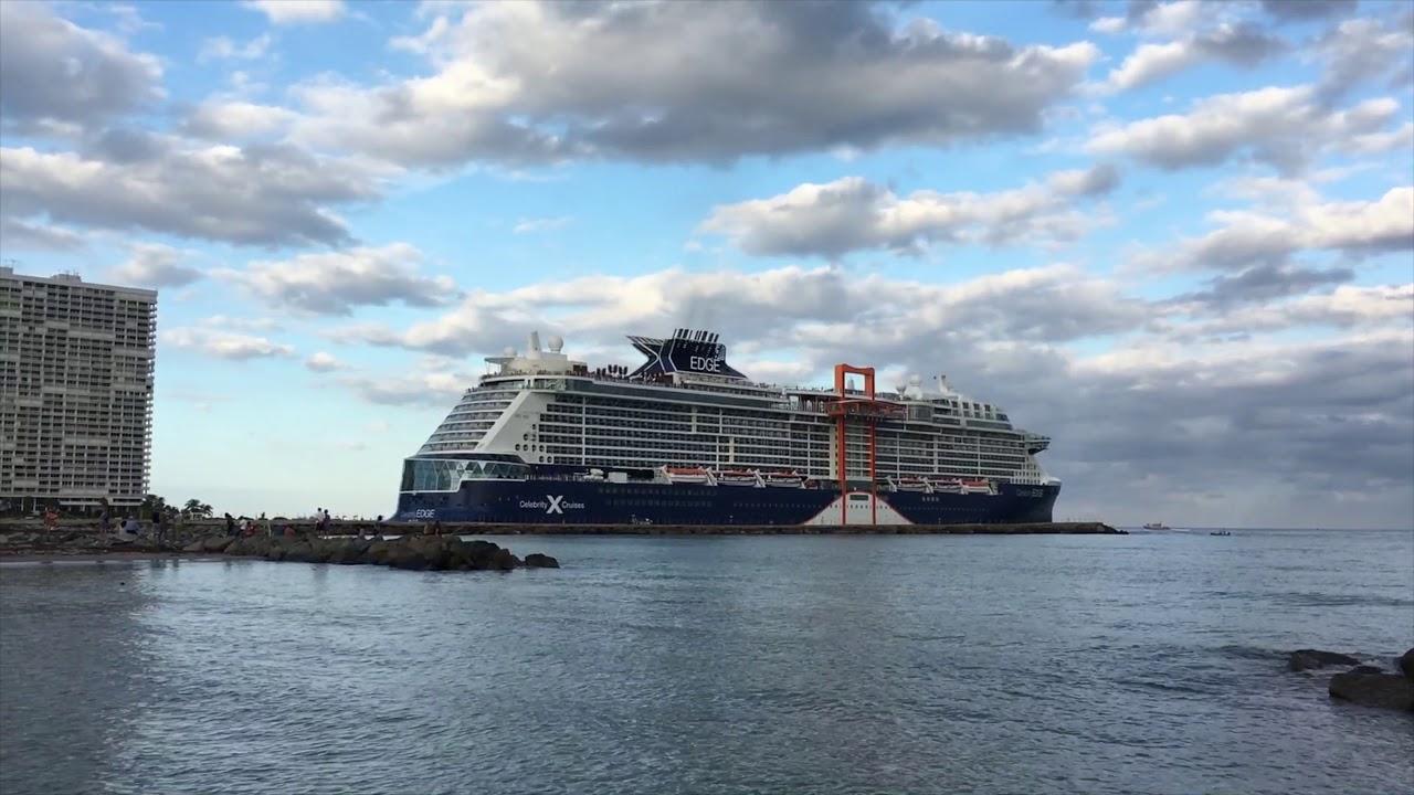 Celebrity Edge Departing Port Everglades 12/16/18