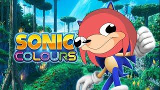 Uganda Knuckles bailando el tema de jefe de Sonic Colors