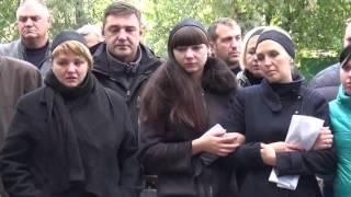 Васильков простился с Г.Щедреной погибщей от упавщей ветке в Василькове.