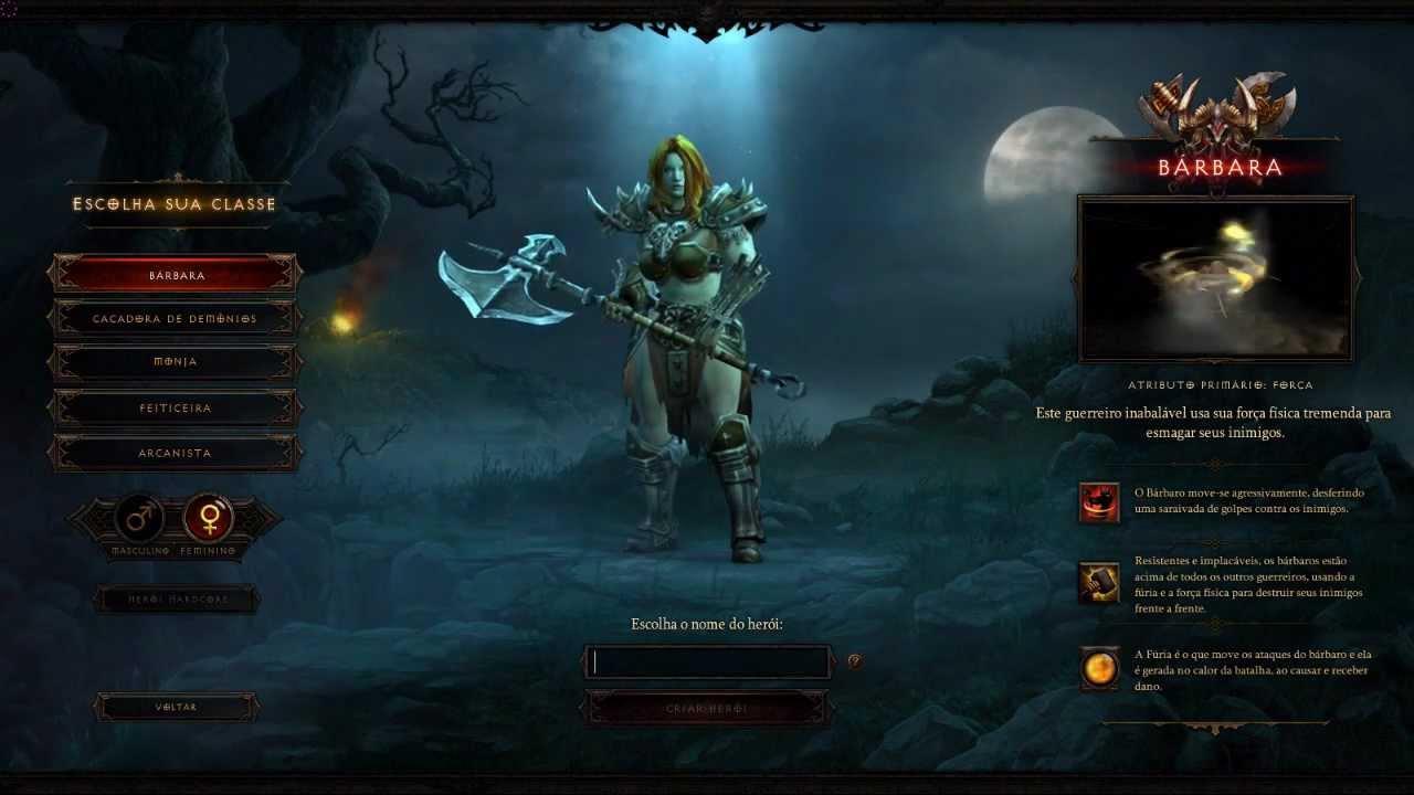 Gameplay Diablo 3 - Minutos iniciais (Bárbara)