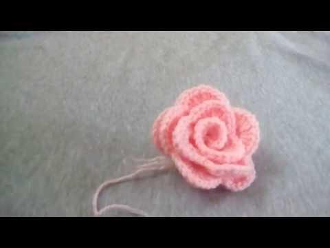 Horgolt rózsa (crochet rose)