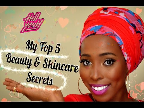 My Top 5 Skincare & Beauty Secrets  {Ssshhh!!!} women of colour, dark skin, african americans prom
