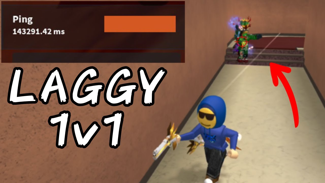 THE LAGGIEST 1V1 IN MM2 (w/ @[SYZ] YouTube_SushiChubbz )