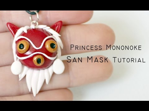 Polymer Clay Tutorial Princess Mononoke San Mask By Studio Ghibli Youtube