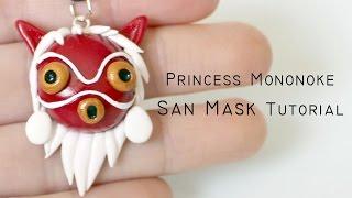 Polymer Clay Tutorial: Princess Mononoke San Mask by Studio Ghibli
