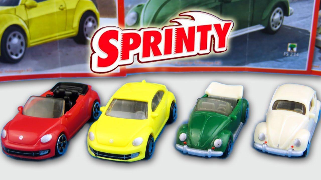 Kinder Surprise Toys Cars Volkswagen Beetle Juke Sprinty Series 2015 2016 by Surprise Eggs SHOW ...
