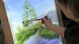 水彩画制作過程.1 (六花の森を描く)  / ムッチー WATERCOLOR PROCESS-1