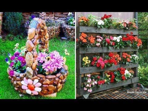 Оригинальные цветочные клумбы на даче своими руками фото